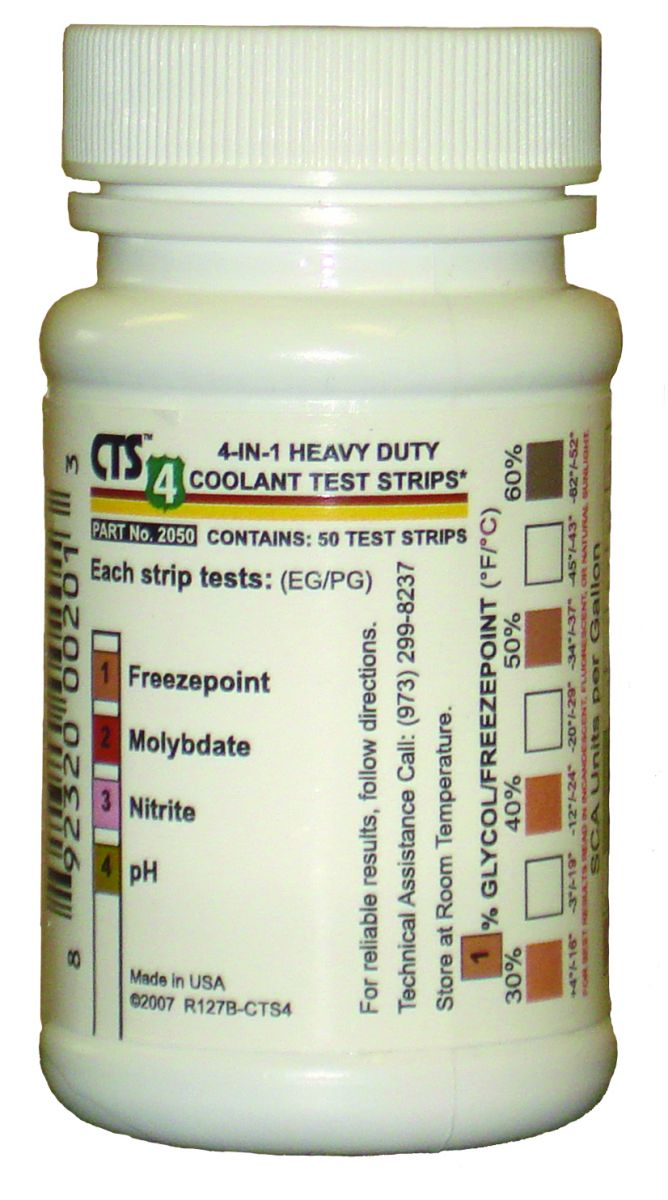 Standard Heavy Duty Extended Life Coolant Test Strips # 2050