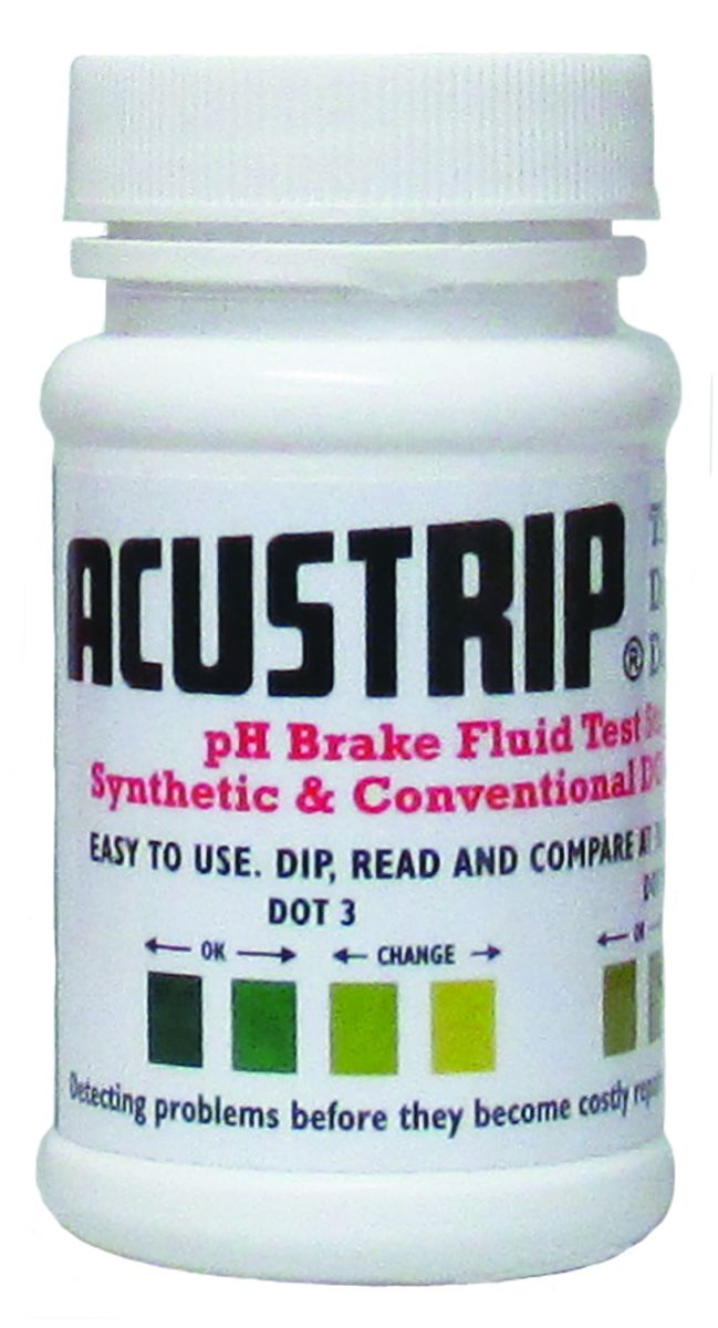 pH Brake Fluid Test Strips Synthetic & Conventional DOT 3, 4 & 5.1 # 80700